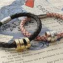 Buy Personalised Leather Traveller Bracelet By Scarlett Jewellery from