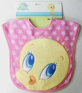 BABY LOONEY TUNES TWEETY BIRD BIB   BRAND NEW