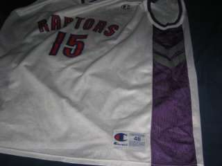 vintage VINCE CARTER TORONTO RAPTORS CHAMPION NBA jersey shirt size 48