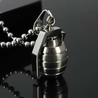 New Mens Stainless Steel Pendant Grenade Necklace Chain
