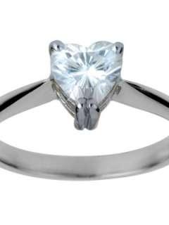 18 Carat White Gold Heart Cut Moissanite Engagement Ring Very.co.uk