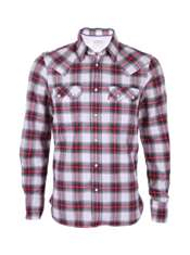 Red and Green Check Sawtooth Roots Shirt by Levis   Red   Buy Shirts