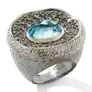 Sima K Gemstone Hammered Ring