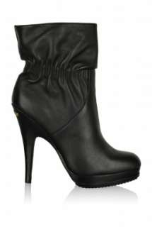 Webster High Leather Platform Ankleboot by Michael by Michae   Black