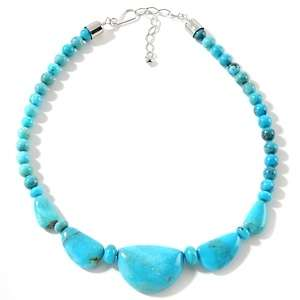 Jay King Turquoise Sterling Silver 17 7/8 Necklace