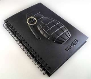 3D HAND GRENADE Spiral Bound Notebook, Über Cool!! Unique