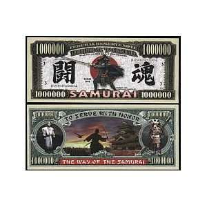 Set of 10 Bills Samurai Million Dollar Bill Toys & Games