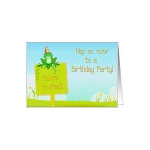 Kids Frog Birthday Party Invite Card: Toys & Games