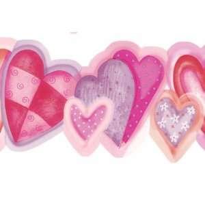 All Hearts Wallpaper Border GIR83191b: Home Improvement