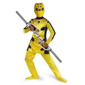 Childs Yellow Power Ranger Costume (Small 4 6): Toys & Games