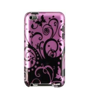 APPLE IPOD TOUCH 4 PROTECTOR CASE   PURPLE WITH BLACK