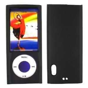 For Apple iPod Nano 5 Rubberized Hard Plastic Case Blk