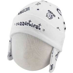 Huskies (UConn) Infant White Ski Knit Baby Beanie: Sports & Outdoors