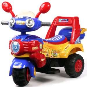 HL818 5 Yellow/Red/Blue Battery Operated Tricycle Toys & Games
