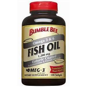 Bumble Bee Fish Oil 1,200mg   100 Softgels Health