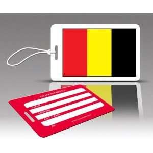TagCrazy Luggage Tags  Belgium Flag  Set of Three