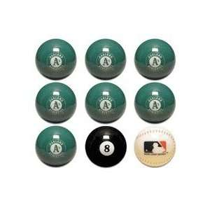 MLB Oakland Athletics As Set of Billard Balls