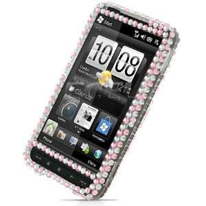 PINK I MISS YOU 3D CRYSTAL BLING CASE COVER FOR HTC HD2 Electronics
