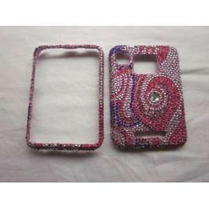 Pink Purple BLING DIAMOND COVER CASE 4 Motorola Charm