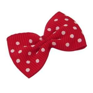DIY Jewelry Making 12x Red and White Polka Dot Decorative Ribbon Bow