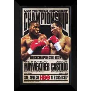 Pretty Boy Floyd Mayweather 27x40 FRAMED Boxing Poster Home & Kitchen