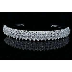 Bridal Prom Wedding Crystal Beads Tiara Headband Beauty