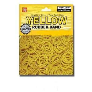 color rubber band YELLOW pony tail holder braid hair