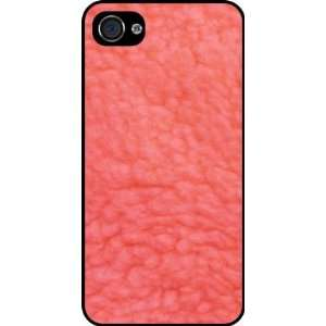 Pink Sherpa Fleece Look Rubber Black iphone Case (with bumper) Cover