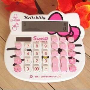 Lovely White Hello Kitty Face Style Calculator Electronics