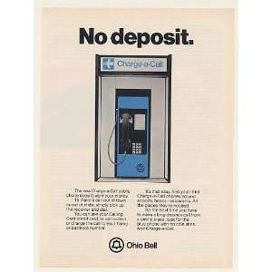1982 Ohio Bell Charge a Call Public Telephone Print Ad