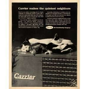 1962 Ad Carrier Quiet Central Air Conditioning Conditioner