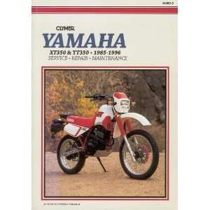 Yamaha XT/TT 350, 1985 1996 Service, Repair, Maintenance