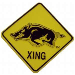 NCAA Arkansas Razorbacks 2D Running Hog Crossing Magnet