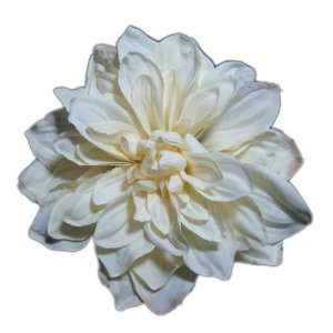 Beautiful Ivory Dahlia Flower Hair Clip and Pin Back