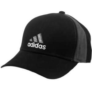 HAT CAP ADIDAS BLACK GREY TWO TONE CURVE BILL CONSTRUCTED