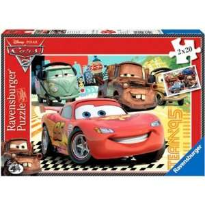 Disney Cars 2 2x20 Piece Jigsaw Puzzle Toys & Games