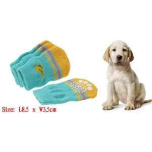 Pet Dog Puppy Doggle Doggie Nonskid Knitted Socks with Banana Pattern