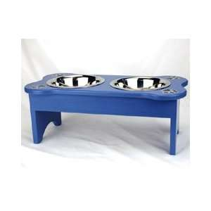 Blue Dog Feeder with Black Paws (Large)