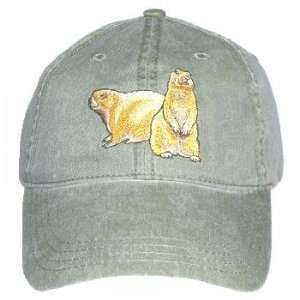 Prairie Dog Embroidered Cotton Cap Patio, Lawn & Garden