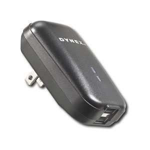 Dynex Dual Universal USB Wall Charger   Black  Players