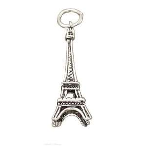 Sterling Silver 3D Eiffel Tower Charm Jewelry