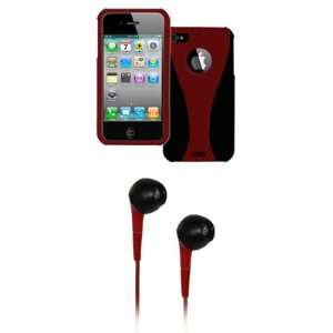 EMPIRE Apple iPhone 4 / 4S Red & Black Duo Shield