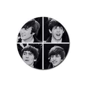 Beatles fab four Round Rubber Coaster set 4 pack Great