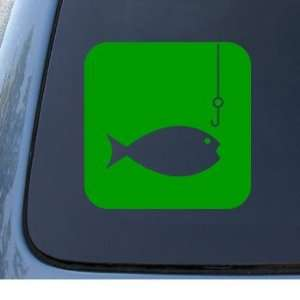 FISH AND HOOK   Fishing   Vinyl Car Decal Sticker #1316  Vinyl Color