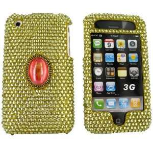 iPhone 3G s 3Gs Bling Hard Case Vintage Jewel Gold Gems Electronics