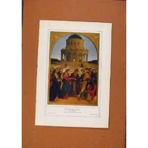 German Art Maria Raffael Color Antique Print C1902