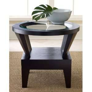 Florence Round Glass End Table: Furniture & Decor