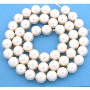 50 Cream Rose Swarovski Crystal Pearl Beads Jewelry 8mm