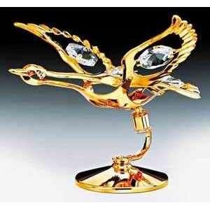 24K Gold Swarovski Crystal Free Standing Figurine