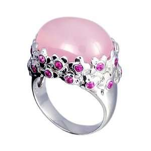Gold RKhordipour Pink Sapphire & Rose Quartz Ring Size 8 1/2 Jewelry